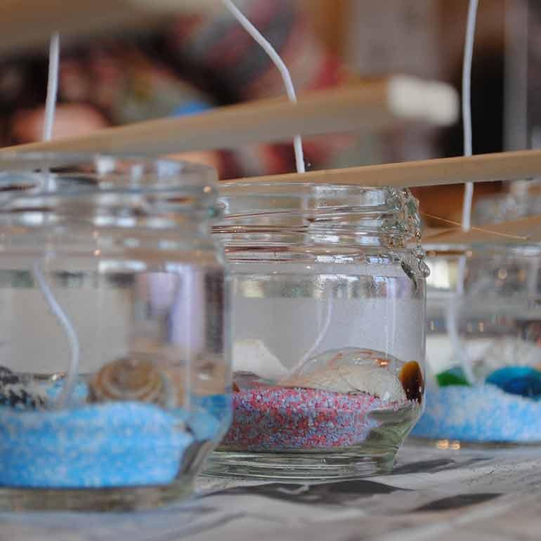 Sea Gel Candle Making