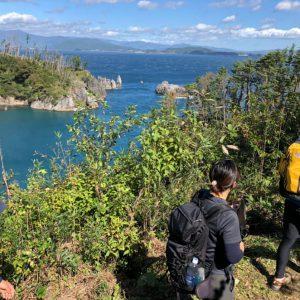 Trekking in Karakuwa Penninsula